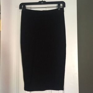Trouve fitted midi skirt